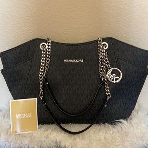 NWT MICHAEL KORS purse, handbag, satchel w/chains
